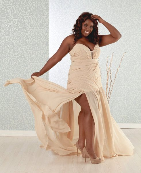 Etsy Spotlight ~ Champagne Color for Plus Size Brides | Colored Plus ...