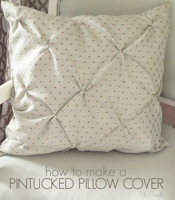 Pin Tucked Throw Pillow Tutorial With Images Diy Pillows