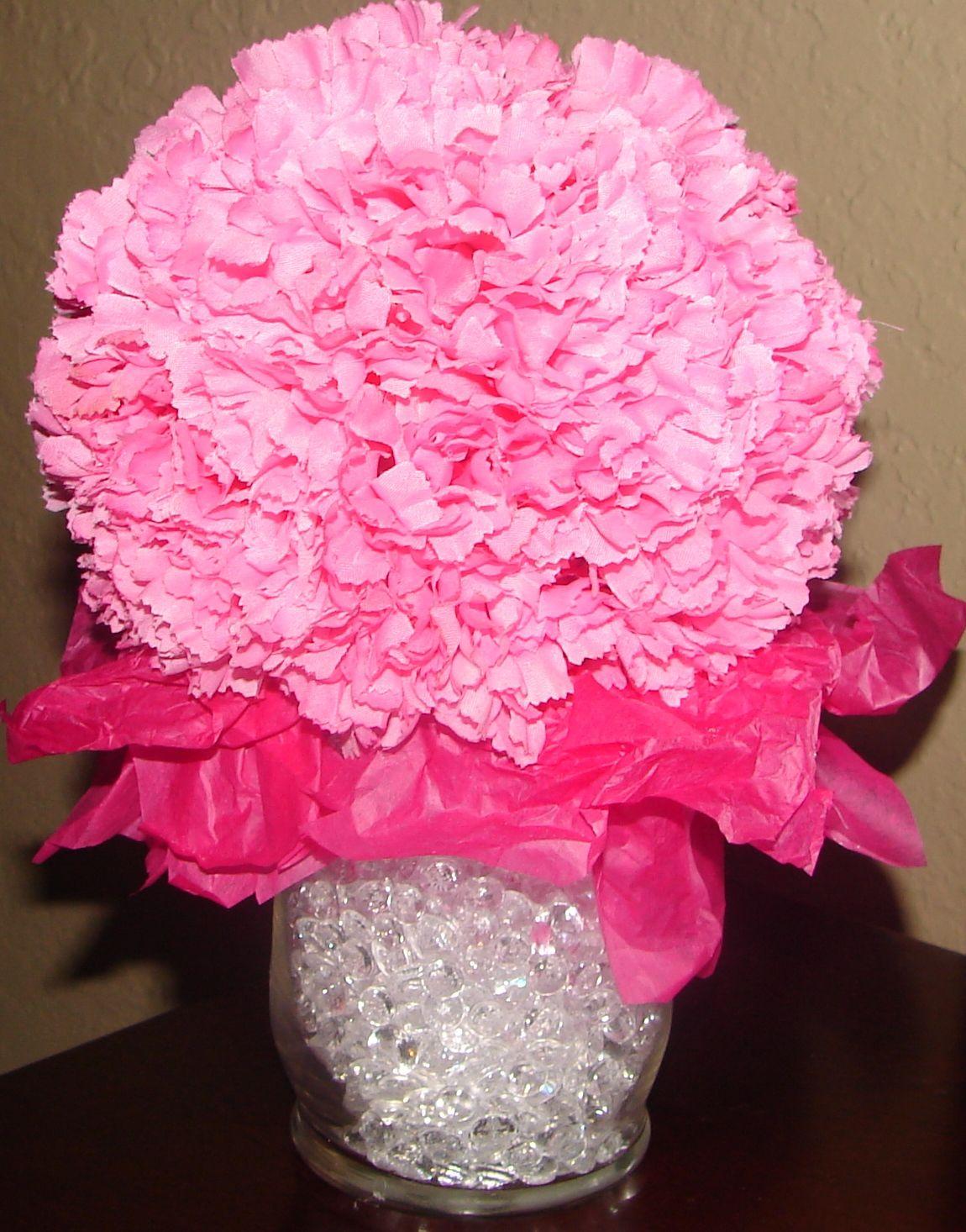 Pink carnation pomander centerpiece dollar tree vase dollar tree pink carnation pomander centerpiece dollar tree vase dollar tree pink carnations dollar tree tissue paper hobby reviewsmspy