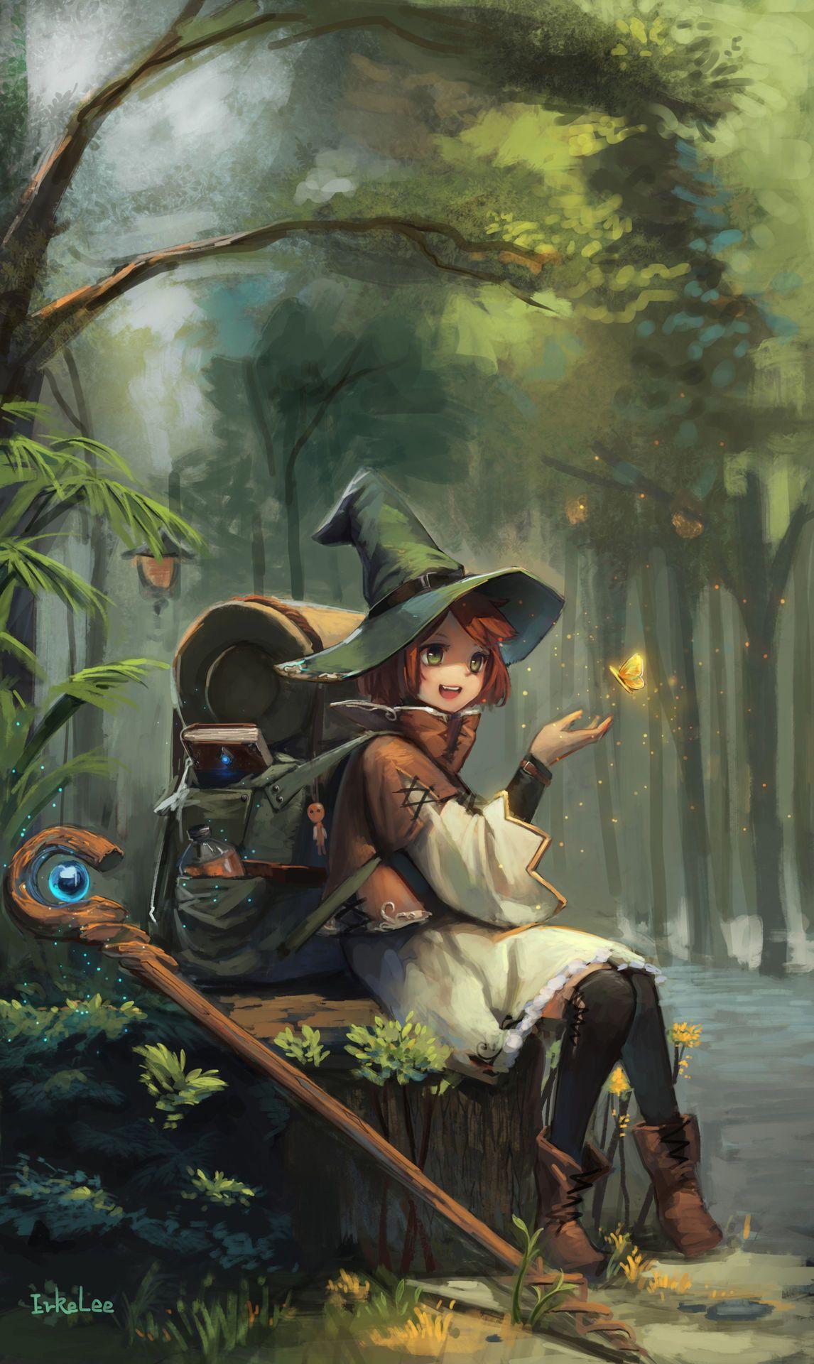 ArtStation magic school, erke lee Anime fantasy, Anime