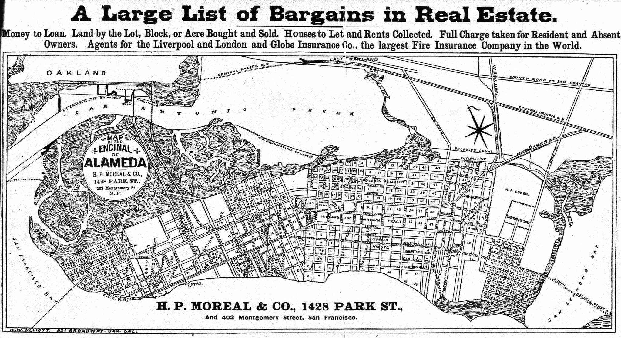 Map Of Alameda 1888 Old Map Alameda City