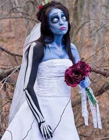disfraces halloween caseros mujer novia cadaver