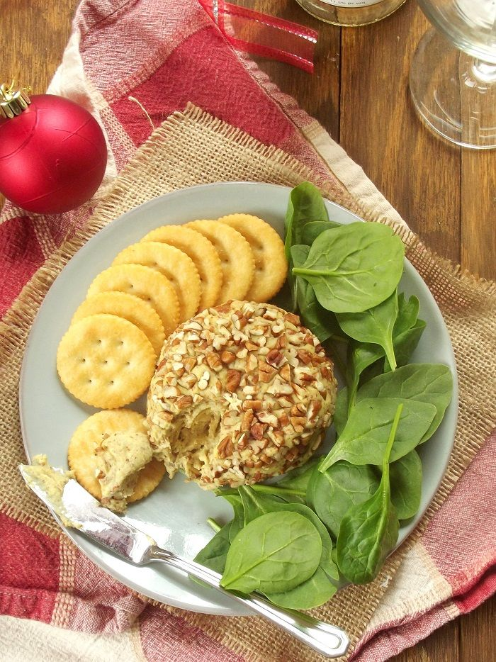 Maple Dijon Vegan Cheese Ball Connoisseurus Veg Vegan Party Food Vegan Cheese Recipes Appetizers And Snacks
