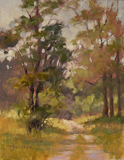 "Spring Morning Sunlight || Barbara Jaenicke, Oil on Panel 14 x 11""l"