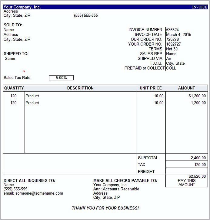 Basic Invoice Template Word , The Uses Of Basic Invoice Template - pay invoice template
