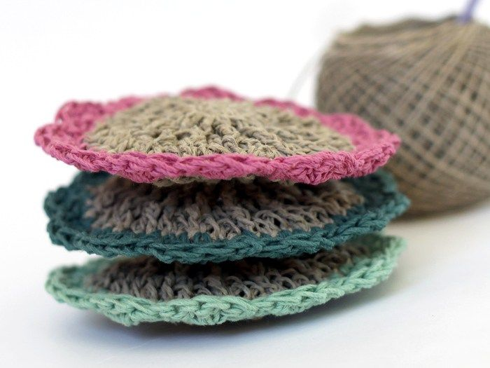 Crocheted Hemp Scrubbies - Free Pattern | Häkelideen