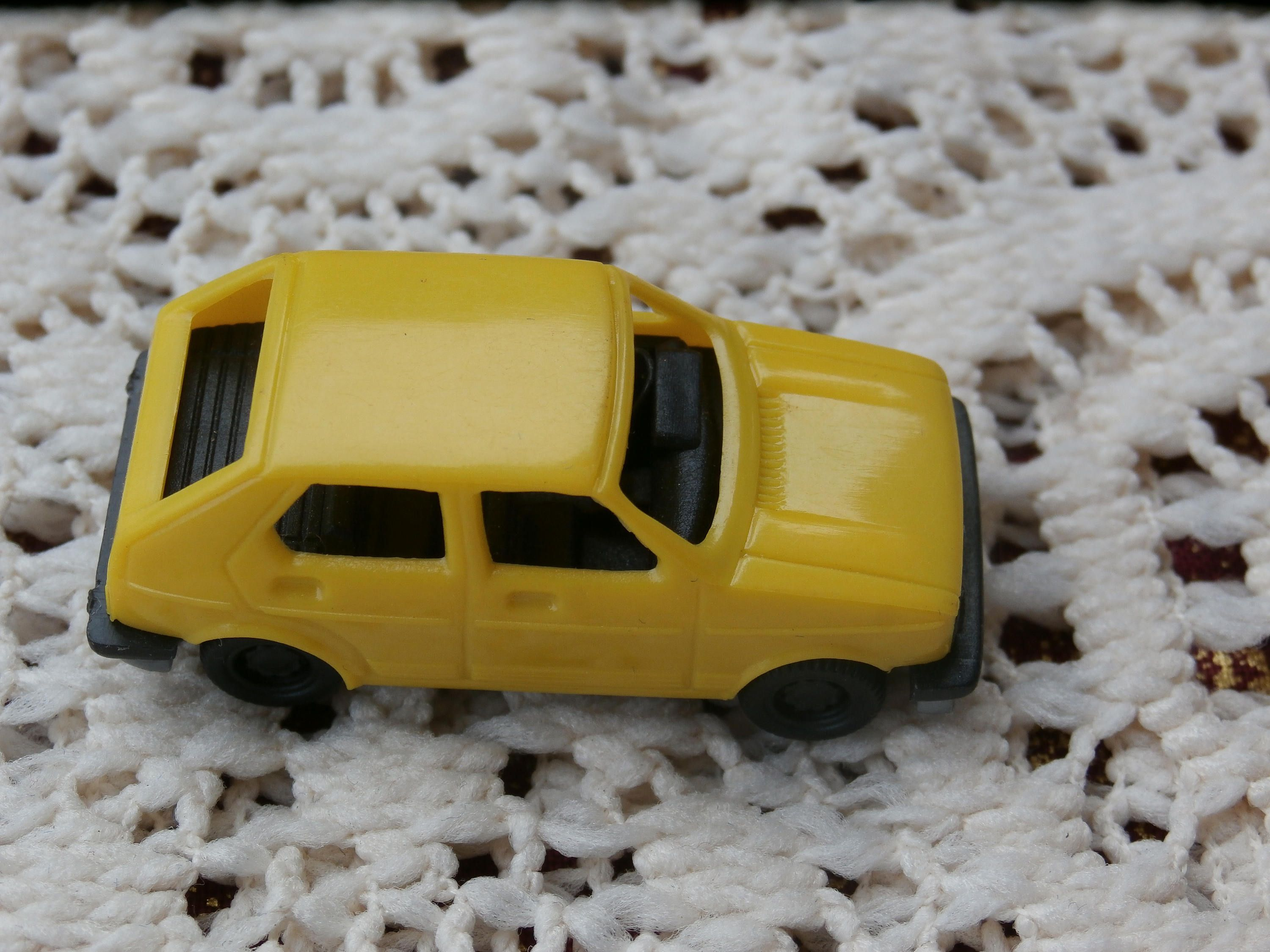 Yellow Golf LS Miniature Car 1 72 HO Scale Plastic Vehicle Made in