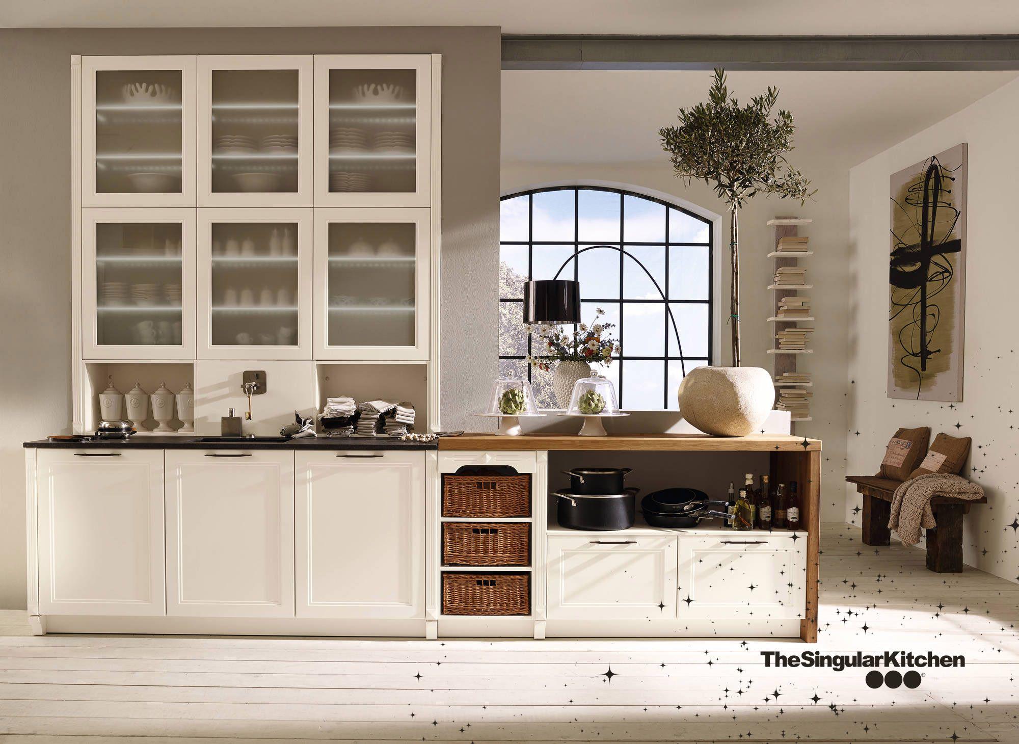 Cocina Exclusiva Lacado Blanco Magnolia texturado
