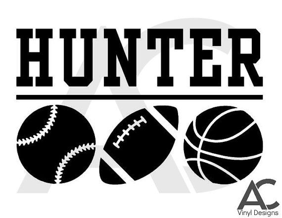 Custom Car Decal Sports Basketball Football Soccer Volleyball - Custom vinyl baseball decals
