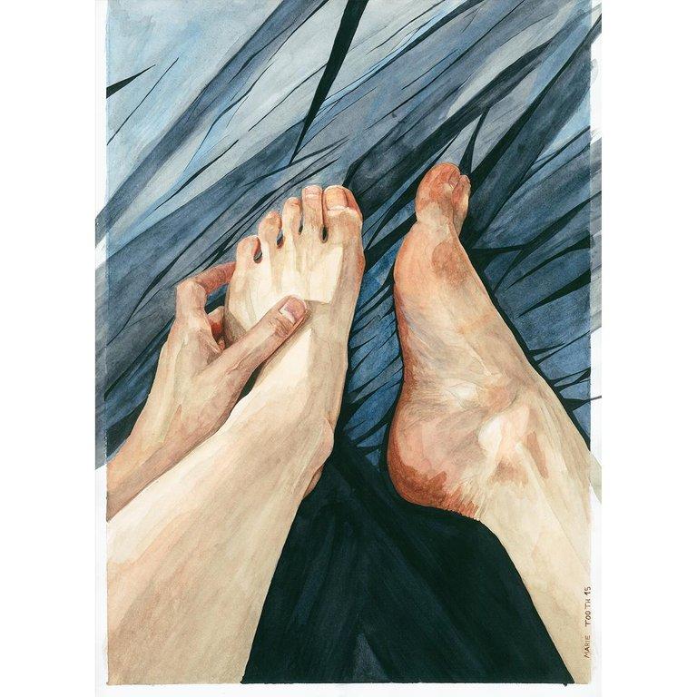 Marie Tooth Crystal Watercolor Painting Hyperrealism