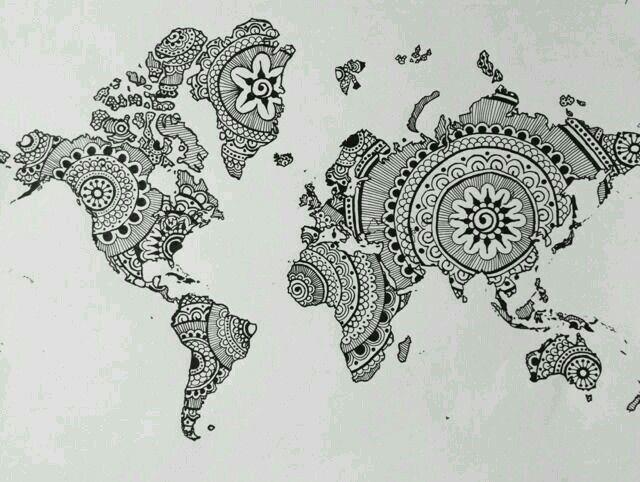 Map tattoo idea tats pinterest map tattoos tattoo and world map tattoo gumiabroncs Image collections