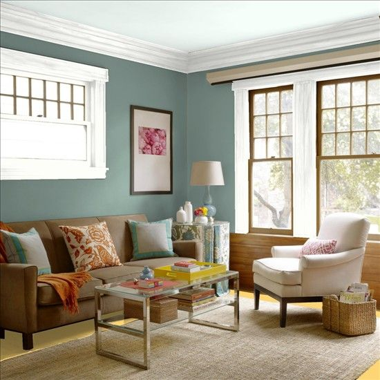 breathtaking green living room color   Better Homes and Gardens - My Color Finder Martha Stewart ...