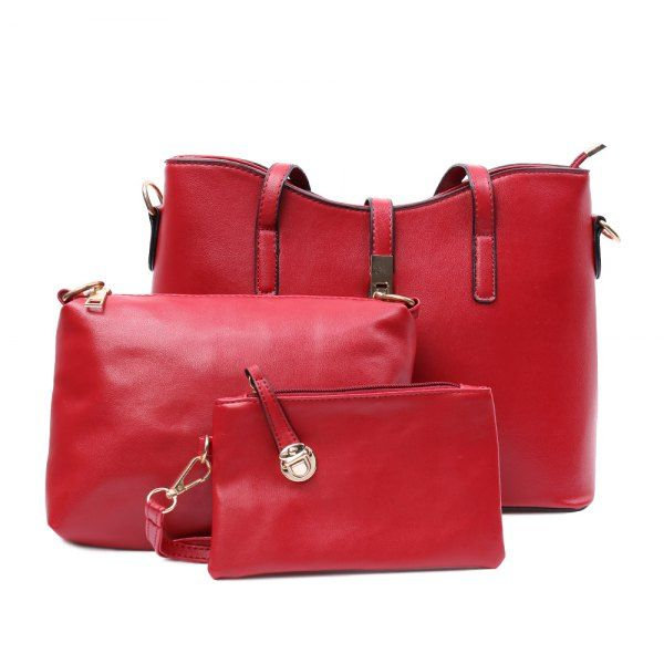 $25.52 Ladylike Solid Color and Zip Design Tote Bag For Women