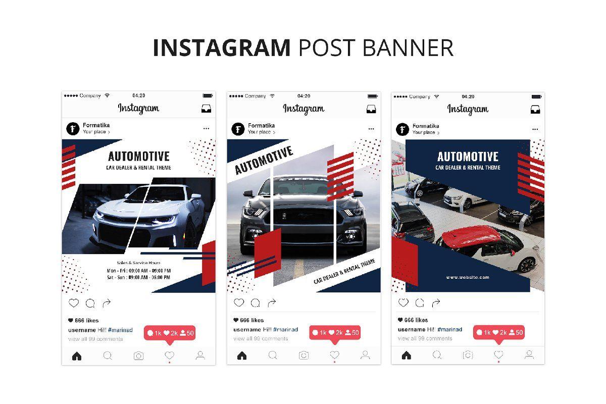 Automotive Instagram Post Banner , SPONSORED, Bannercar