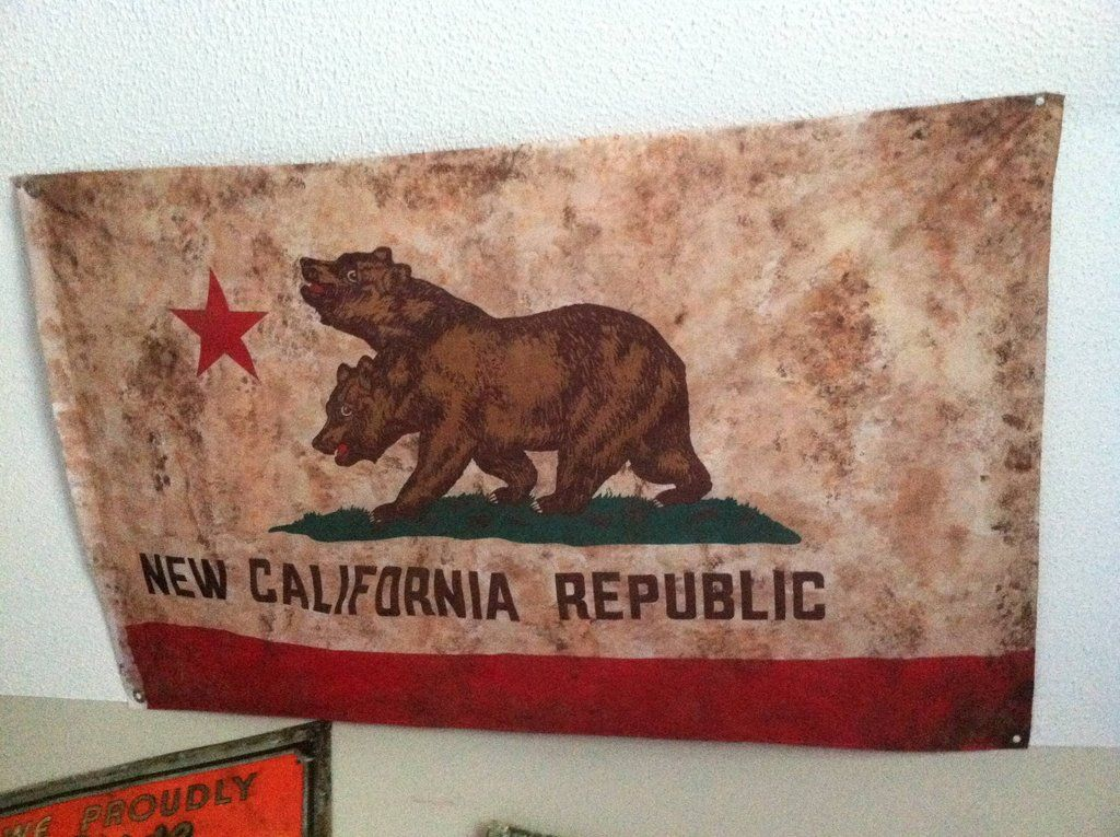 NCR Flag Replica   Video Game Art   Fallout props, Video