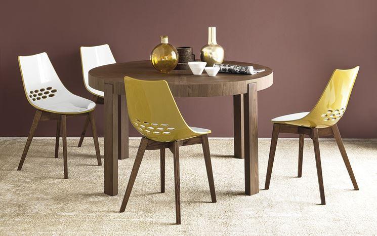 93 Tavolo Rotondo Allungabile.Tavolo Rotondo Allungabile Calligaris Modern Dining Table