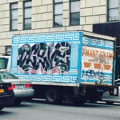 Street art mobile in NYC, 2017