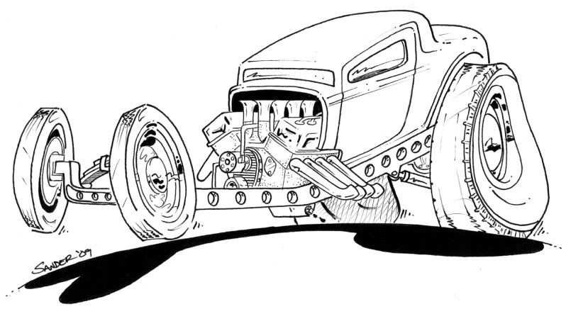 Rat rod coloring pages chevy rod colouring pages color for Chevy nova coloring pages