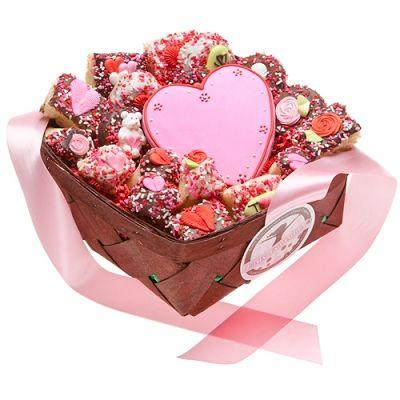 Romantic Gifts - Romantic Gourmet Cookies Gift Basket by Gift Baskets Etc #boyfriendgiftbasket
