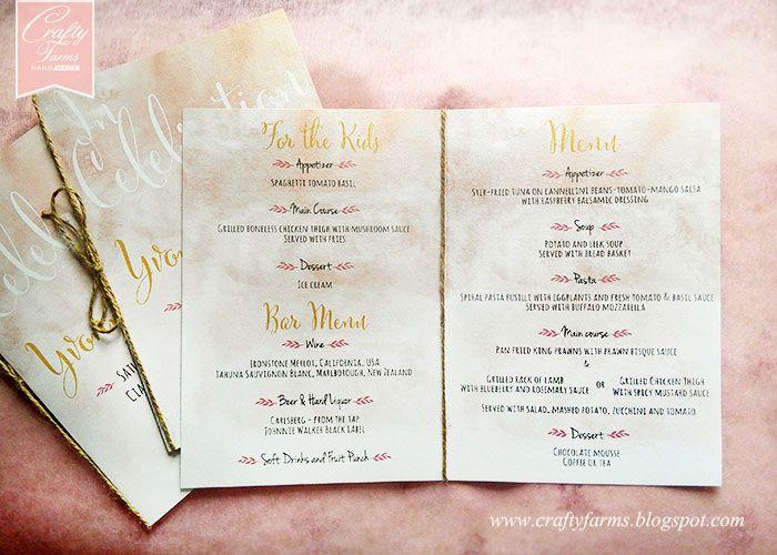 Watercolour rustic wedding menu at ciao ristorante kuala lumpur watercolour rustic wedding menu at ciao ristorante kuala lumpur stopboris Gallery