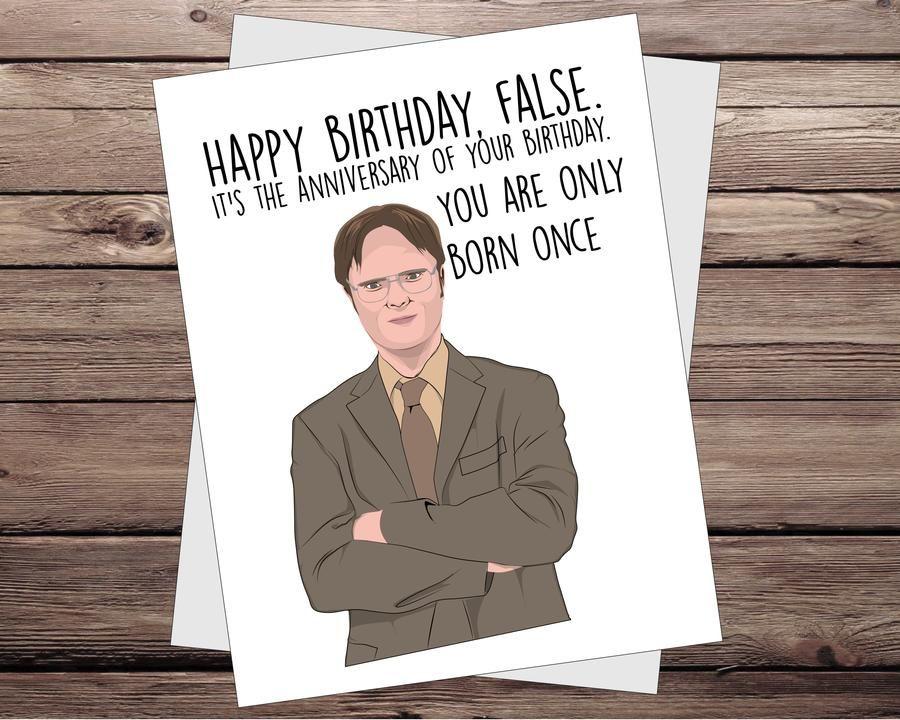 Dwight the office birthday card birthday card sayings