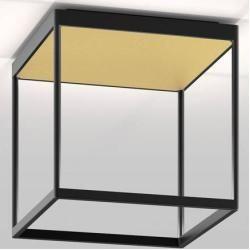 Photo of serien.lighting Reflex² Ceiling M 300 Deckenleuchte schwarz Reflektor Pyramidenstruktur gold Dali di