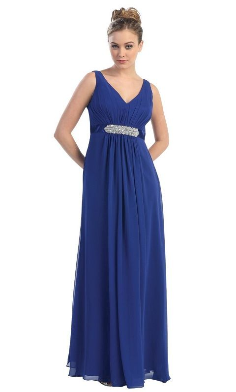Plus Size Empire Waist Dresses Royal Blue Plus Size Formal Gowns