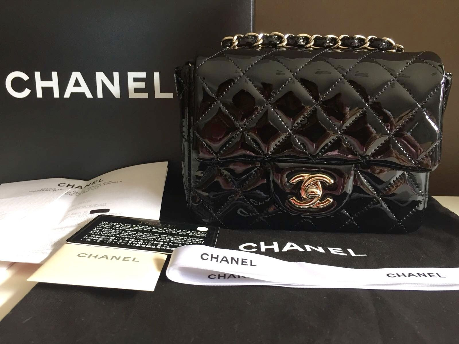 a0b7ca8b445694 CHANEL Mini Square Patent Leather Flap Bag | Chanel | Chanel mini ...