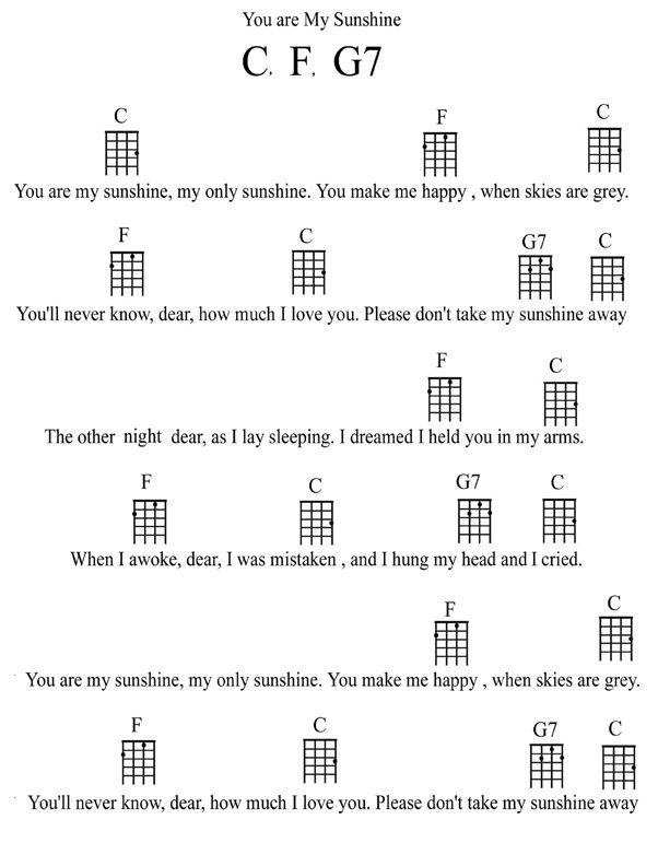 How To Play You Are My Sunshine On Guitar : sunshine, guitar, Sunshine, Ukulele, Google, Search, Songs, Beginner,, Ukelele, Chords, Songs,