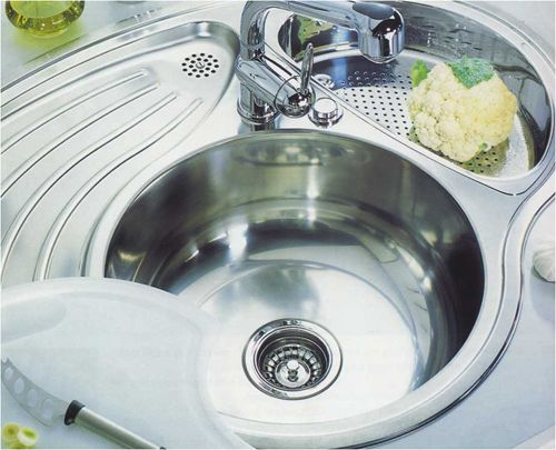 Beautiful Small Round Kitchen Sink And Drainer   Best Kitchen Ideas 2017