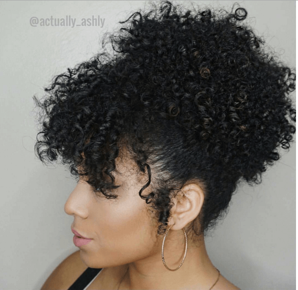 Gorgeous Quick Curly Updo Ig Actually Ashly Naturalhairmag Naturally