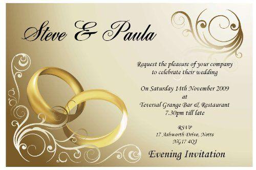 10 Personalised Gold Rings Wedding Invitations N8 Mens Wedding - best of invitation card about wedding
