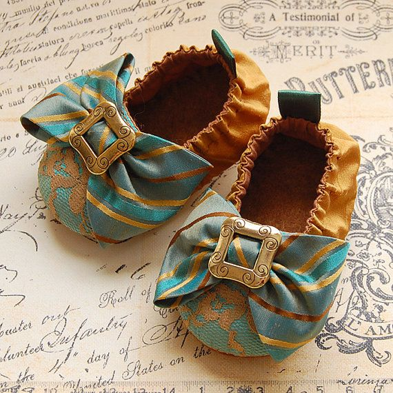 silk and lace baby shoes