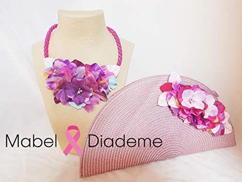 77eb4aa7e Mabel Diademe conjunto collar gargantilla y bolso abanico mujer para  eventos bodas bautizos comunion accesorio glamour