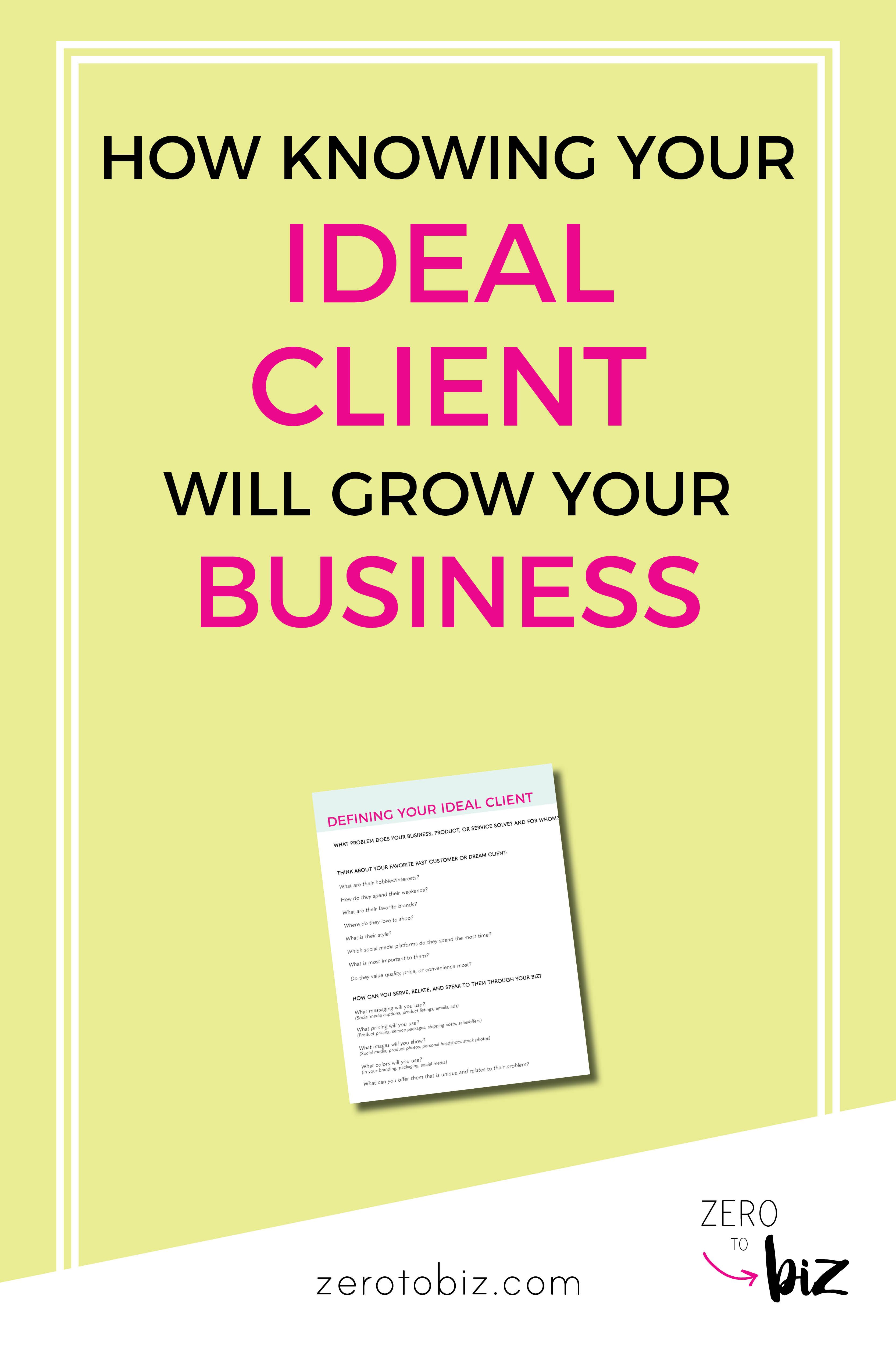 How Knowing Your Ideal Client Will Grow Your Business