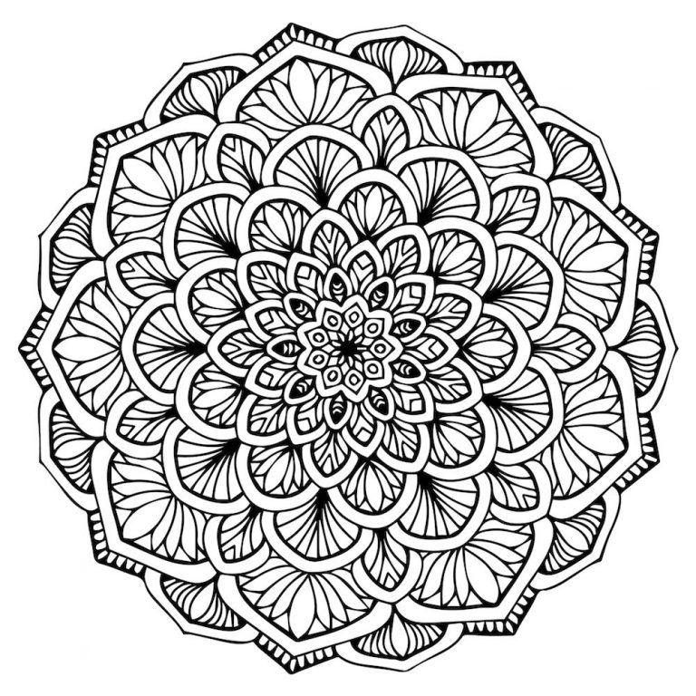 Mandalas Para Colorear Y Relajarte Com Imagens Mandalas