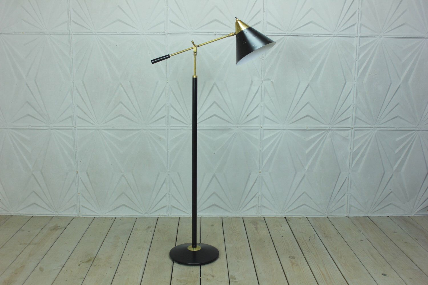 Rare Gerald Thurston for Lightolier Adjustable Arm Floor Lamp ...