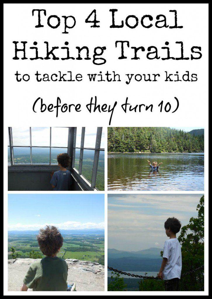 Top 4 Burlington area Hiking Trails for Kids Under 10
