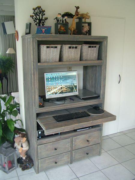 computerkast - Google zoeken - Werkwand woonkamer | Pinterest ...