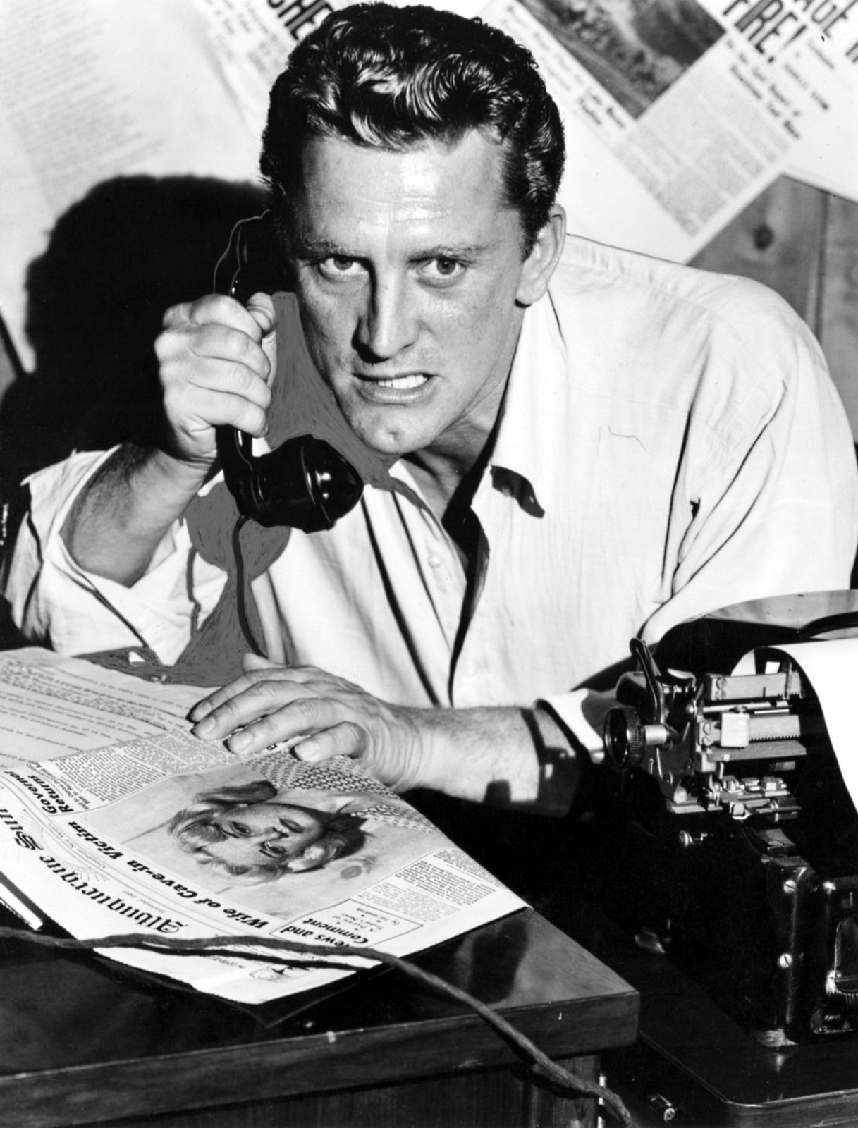 kirk douglas in ace in the hole aka the big carnival  kirk douglas in ace in the hole aka the big carnival
