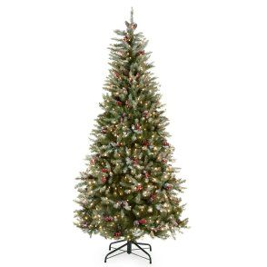 Snowy Dunhill Slim Pre-lit Christmas Tree - 7.5 ft. normally $499 on ...