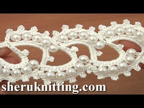 Лента шаблон вязание крючком Белый Учебник 18 | Вязание | Постила