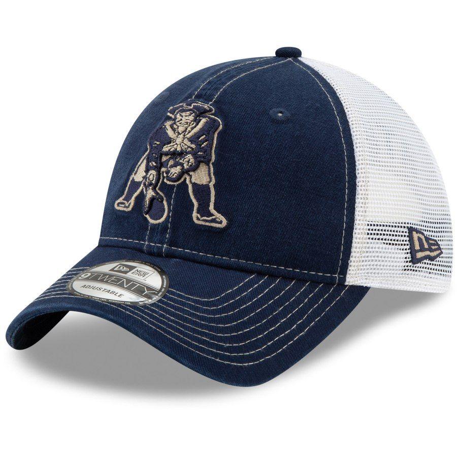 3849c97c2 New England Patriots New Era Throwback Logo Rustic Mark Trucker ...