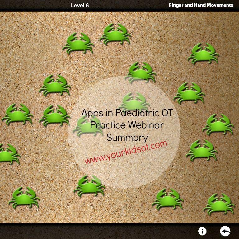 apps, OT, practice, screen, time, Pediatric ot, Kids app