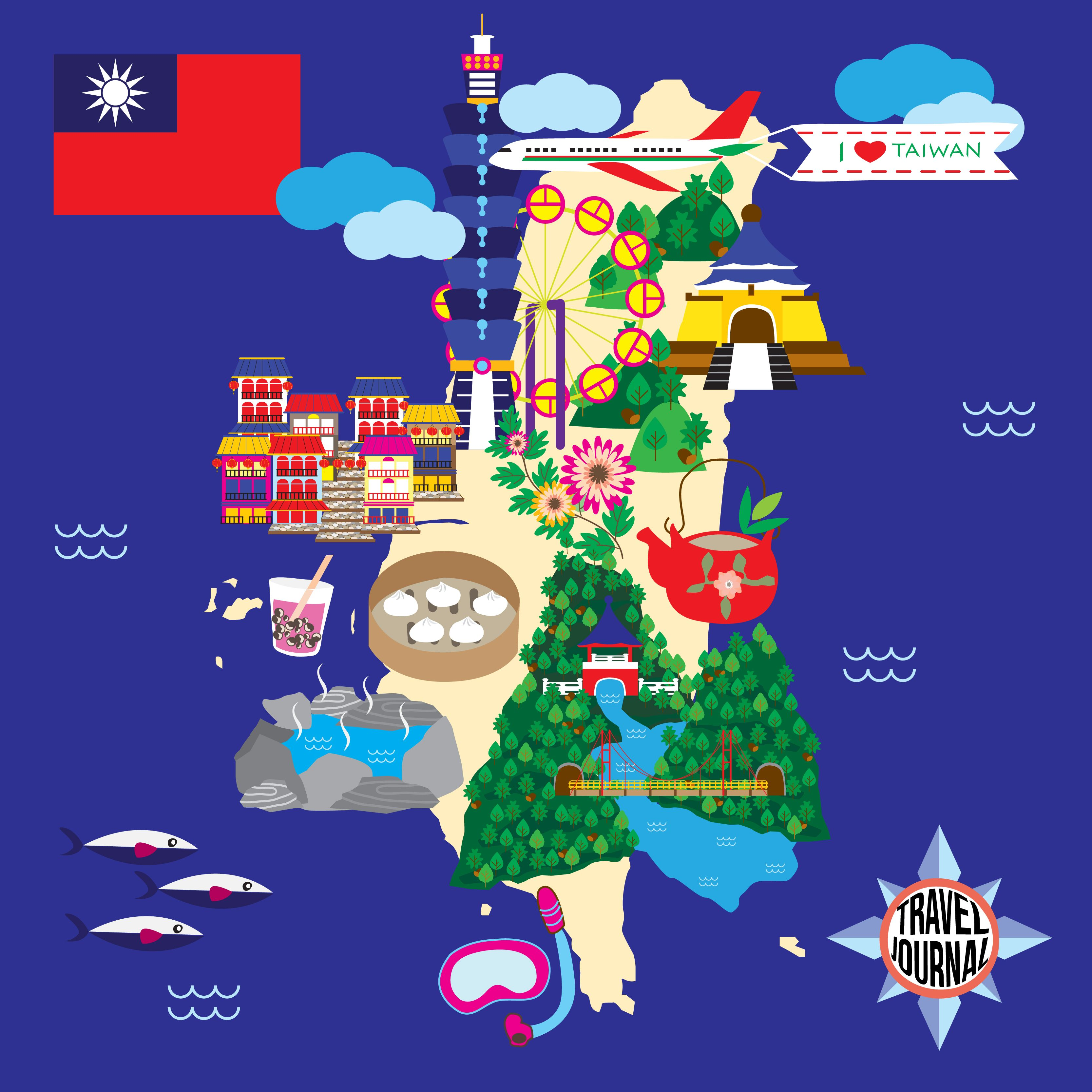Taiwan Travel Guide Map taiwan travel map my job