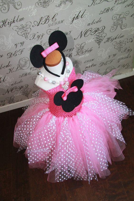d1a0b7497 Minnie Mouse Disney Princess Pink or Red Tulle Tutu Halloween Costume Dress  Skirt Girls Baby Dress-Up Custom Crochet Toddler Baby Girl Women on Etsy,  $69.00