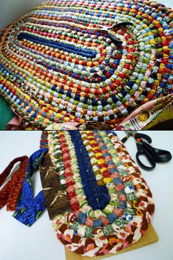 Beautiful Handmade Braided Rug Looks Like A No Sew Project