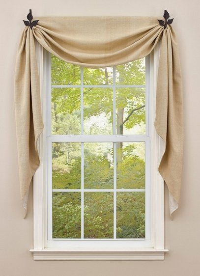 Fishtail Swags Swag Curtains Kitchen Window Valances Modern