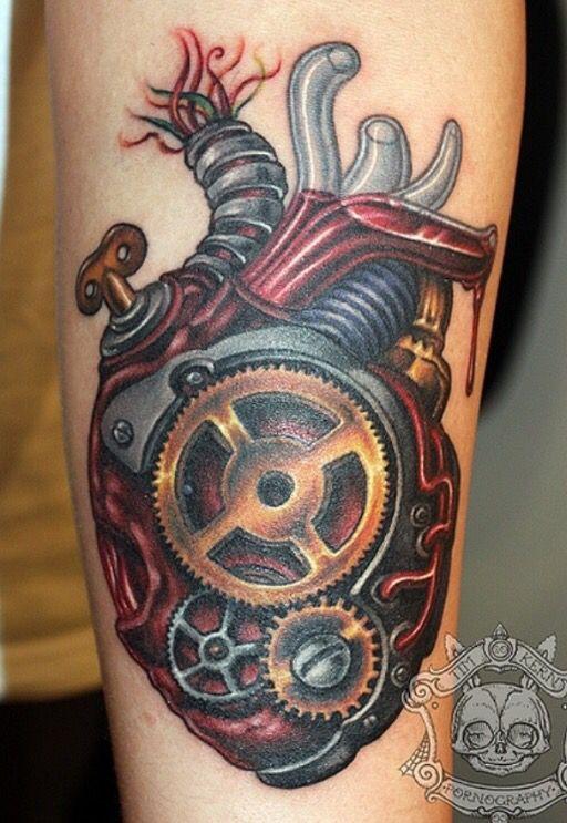 Mechanical Heart Tattoo Steampunk Tattoo Biomechanical Tattoo Picture Tattoos