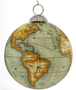 World globe ornament for sale google search big blue marble world map globe green personalized ornament gumiabroncs Choice Image